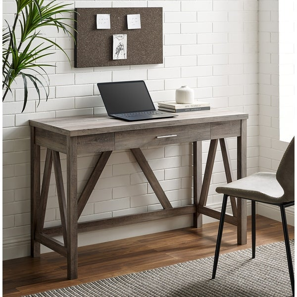 The Gray Barn Paradise Hill 46-inch A-Frame Writing Desk. Opens flyout.