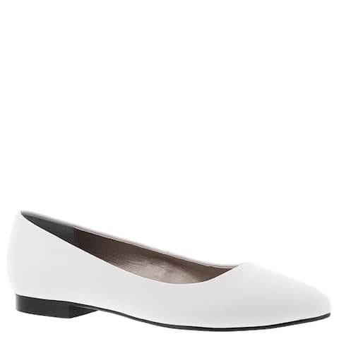 ARRAY Womens Paula Leather Pointed Toe Ballet Flats