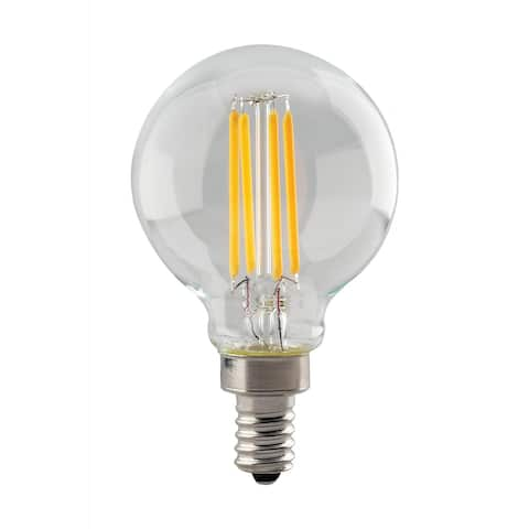 4.5 Watt G16.5 LED Clear Candelabra Base 3000K 350 Lumens 120 Volts