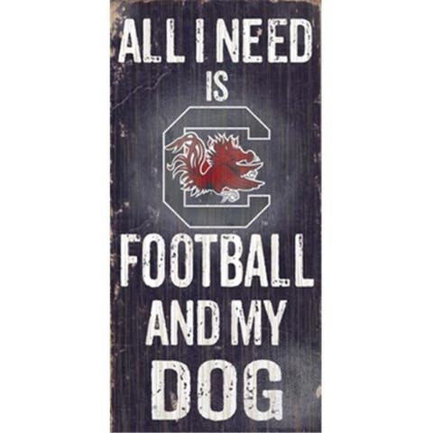 Fan Creations C0640 University Of South Carolina Football And My Dog Sign