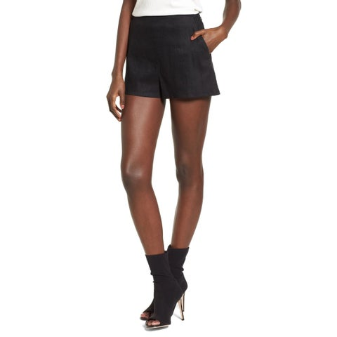 Leith Black Women's Size Large L Flat Front Two Pocket Shorts