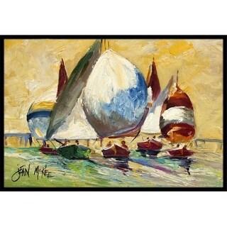 Carolines Treasures JMK1033MAT Bimini Sails Sailboat Indoor & Outdoor Mat 18 x 27 in.