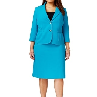 Tahari By ASL NEW Blue Sea Women's Size 22W Plus Skirt Suit Set