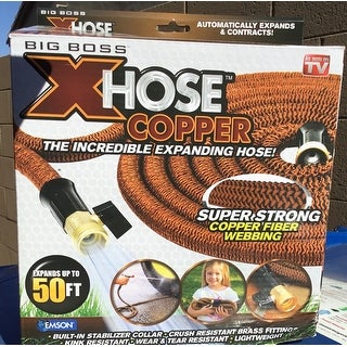 Big Boss Copper Xhose Expandable Garden Hose with Gold Fitting