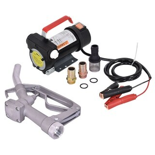 Costway 12V 10GPM Electric Diesel Oil And Fuel Transfer Extractor Pump w/ Nozzle & Hose - As pic