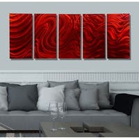 Statements2000 Red Metal Wall Art Panels Painting by Jon Allen - Red Hypnotic Sands