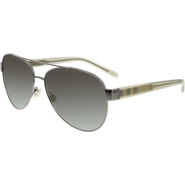 47e9351f3fa3 Shop Burberry Men s Gradient BE3084-10038G-57 Silver Oval Sunglasses ...