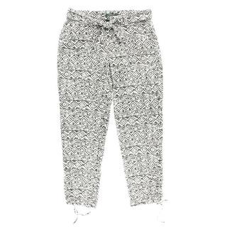 Lauren Ralph Lauren Womens Skinny Pants Printed Flat Front