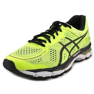 Asics Gel Kayano 22 Men Round Toe Synthetic Yellow Running Shoe