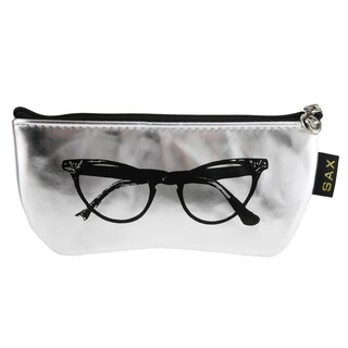 CTM® Women's Metallic Zipper Sunglasses Case - One size