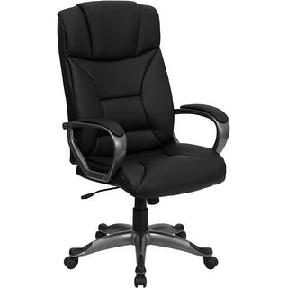 Offex High Back Black Leather Executive Office Chair [OF-BT-9177-BK-GG]