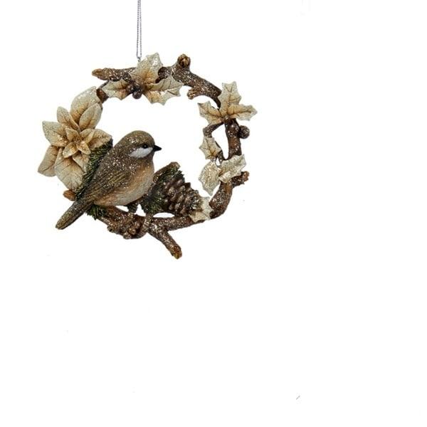 "4.5"" Woodland Songbird Decorative Christmas Ornament"