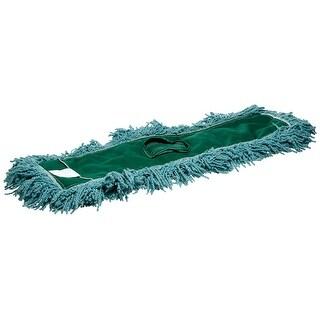 """Rubbermaid J55300GR00 Blend Dust Mop Head, 24"""" x 5"""", Green"""