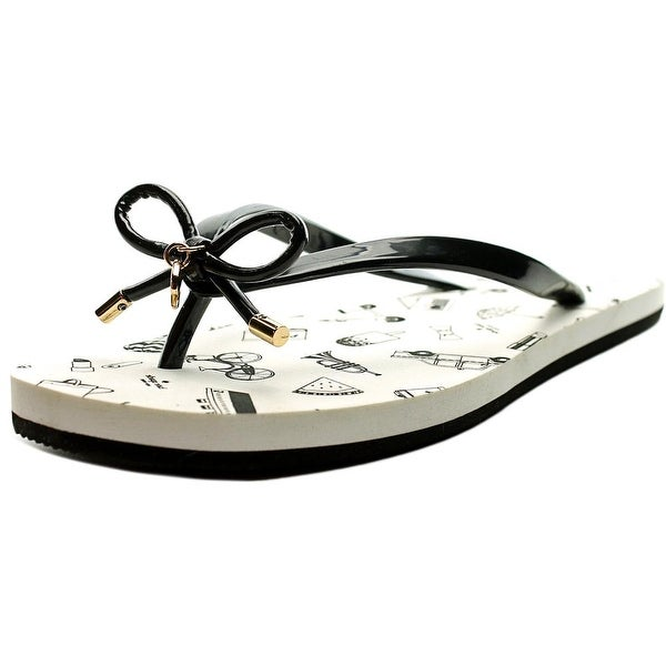 Kate Spade Nova Black Shiny Rubber Sandals