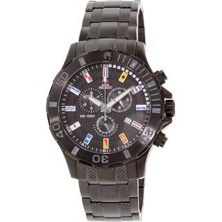 Swiss Precimax Men's Armada Pro SP13050 Black Stainless-Steel Fashion Watch