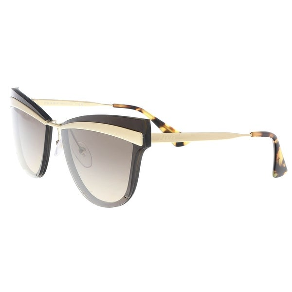 5a48c0d44883a Shop Prada PR 12US KJM3D0 Brown Cat Eye Sunglasses - 65-16-140 ...