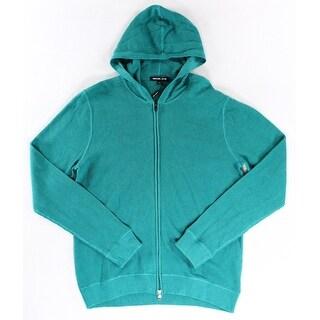 Michael Kors NEW Jade Green Mens Size Large L Full Zip Sweater