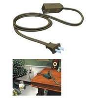 9' Westinghouse Brown 3-Outlet Indoor Extension Power Cord with Safety Covers