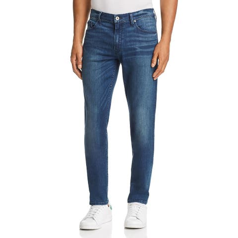 Paige Mens Federal Grover Slim Jeans Denim Dark Wash - Blue