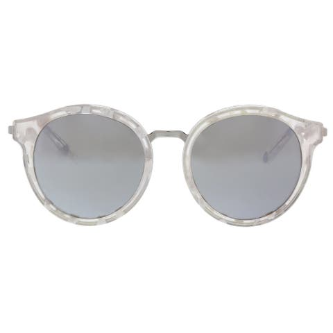 Juicy Couture JU596/S 0YOA/T4 White Ruthenium Round Sunglasses - 52-19-140