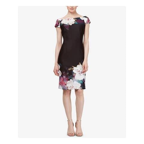 SLNY Black Short Sleeve Above The Knee Dress 10