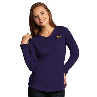 Louisiana State University Ladies Heather Jersey V-Neck Tee