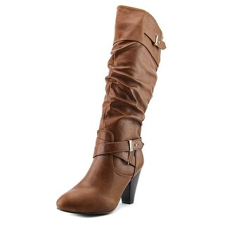 Rampage Eliven Women Round Toe Synthetic Brown Knee High Boot