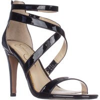 Jessica Simpson Ellenie Heeled Sandals, Black Patent