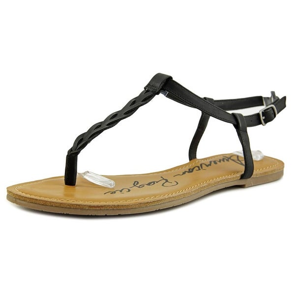 American Rag Krissy Women Open Toe Synthetic Black Thong Sandal