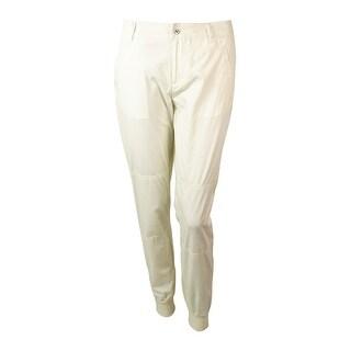 LRL Lauren Active Women's Poplin Ankle Pant - modern cream - 2