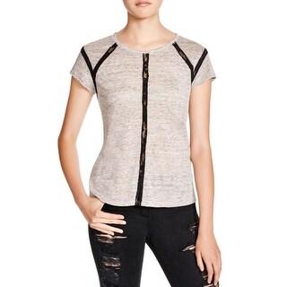 Generation Love Womens T-Shirt Linen Lace Inset