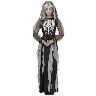 Haunting Skeleton Bride Costume, Skeleton Bride Costume
