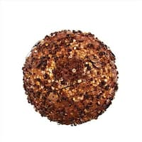 NorthLight 4 in. Chocolate Sparkle Kissing Christmas Ball Ornament