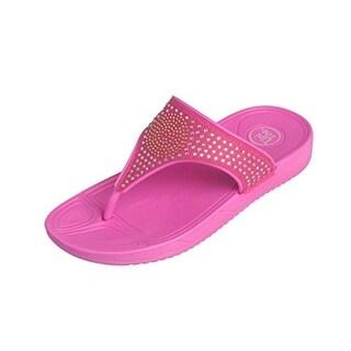 Tipi Toe Girls Rhinestone Thong Sandals
