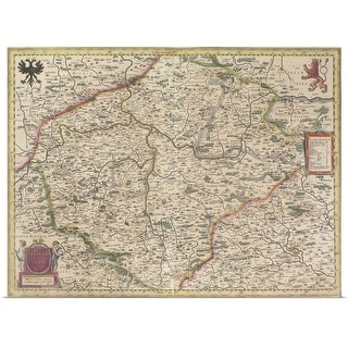 """Antique map of Bohemia"" Poster Print"