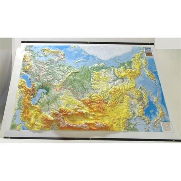 Shop Raised Relief Base Map Russia & Surrounding Countries With ...