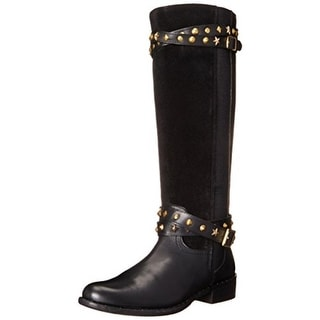 J. Renee Womens Torel Knee-High Boots Suede Studded