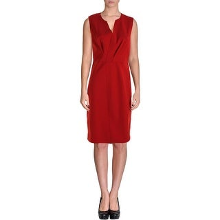 Elie Tahari Womens Vernon V-Neck Sleeveless Wear to Work Dress