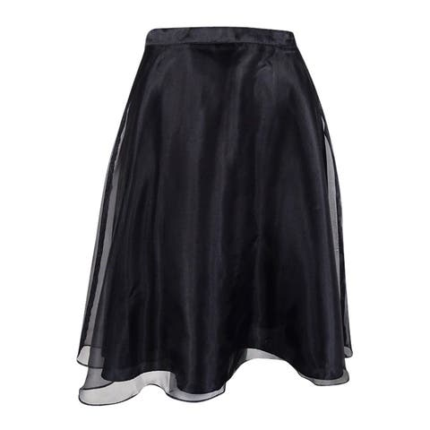 MSK Women's Organza A-Line Skirt - Black