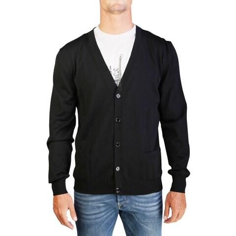 Dior Homme Men's Virgin Wool Buttoned Cardigan Sweater Black