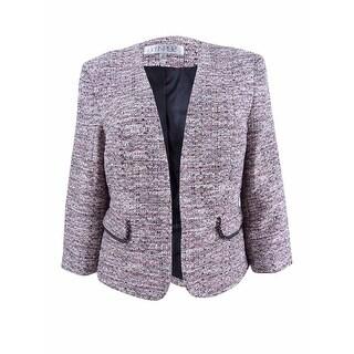 Kasper Women's Petite Embellished Tweed Jacket - cream multi - 12P