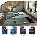 2x7.2 5.3x7.2 8x10 Feet Rug Carpet Area Rug Green Purple Black Blue Red Polyester Modern Contemporary 3 Dimensional Hand Carved - Thumbnail 0