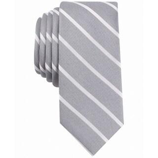 Bar III White Men's One Cashel Stripe Slim Neck Tie