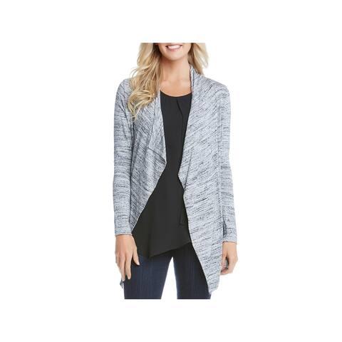 Karen Kane Womens Cardigan Sweater Marled Open Front