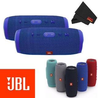 JBL Charge 3 Portable Bluetooth Stereo Speaker 2-Pack