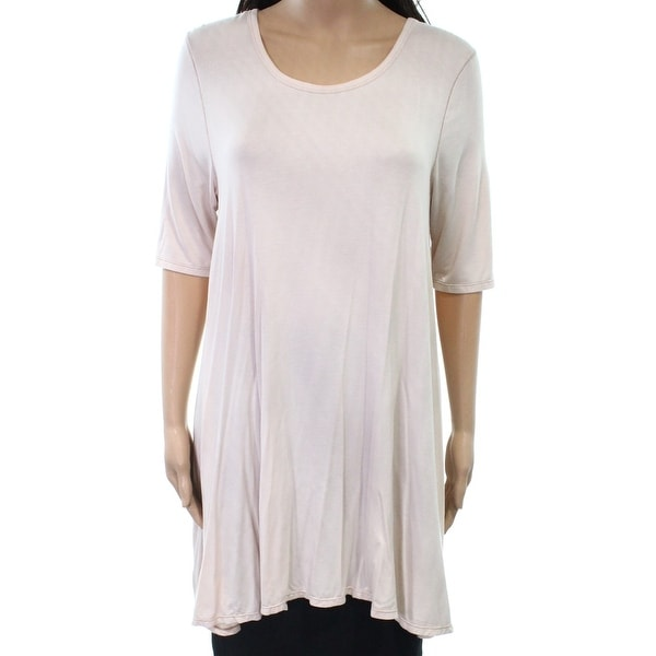 b7aa3120806 Shop Free People NEW Pearl Pink Womens Size XS Scoop Neck Tunic Knit Top - Free  Shipping On Orders Over $45 - Overstock.com - 20363409