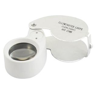 Unique Bargains Pocket LED Light Illuminated Magnifier Jewelry Eye 40X Magnifying Loupe