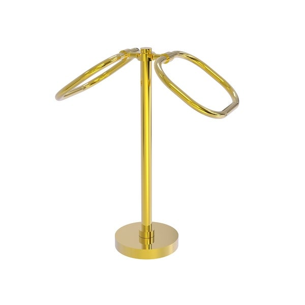 Allied Brass Two Ring Oval Guest Towel Holder