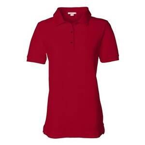 FeatherLite Women's Pique Sport Shirt - Red - M