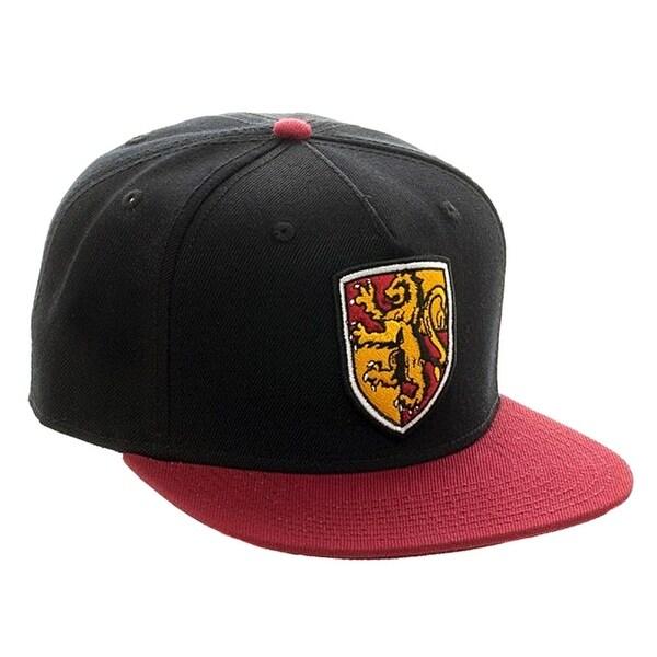 new arrival e2258 d1055 Harry Potter Gryffindor Crest Black  amp  Red Snapback Hat